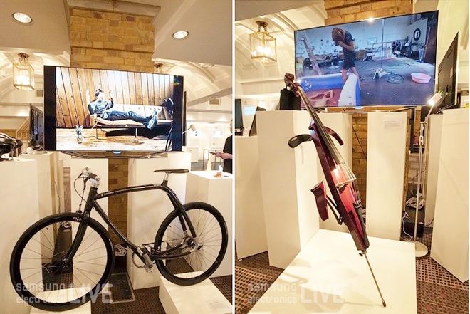 WIRED 2012 행사장의 TV와 자전거