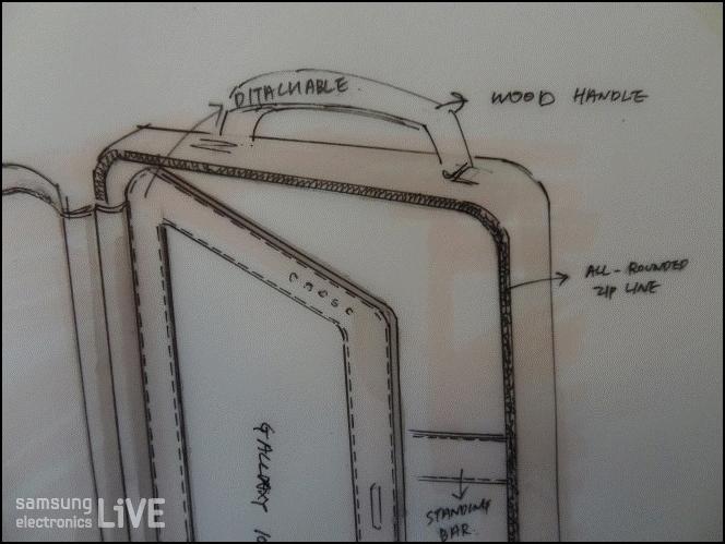 이명재 학생의 갤럭시 노트 10.1 케이스 디자인 스케치