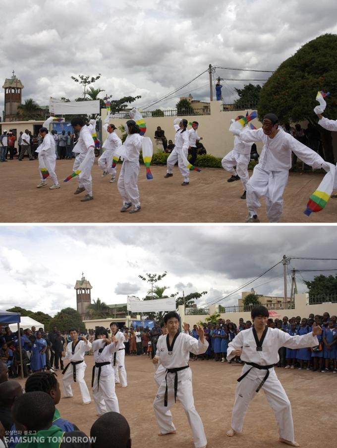 전통탈춤과 태권도 퍼포먼스