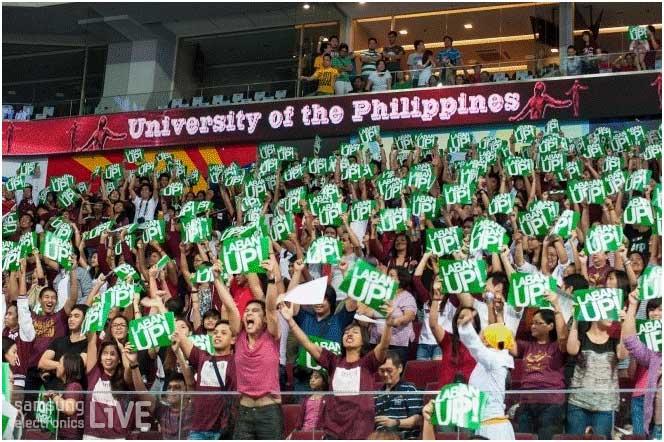 경기장을 가득 매운 학생들의 응원