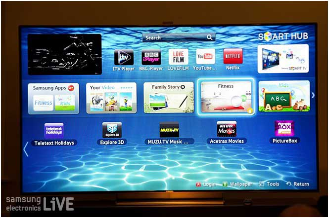 삼성 스마트 TV (ES 9000)의 모습
