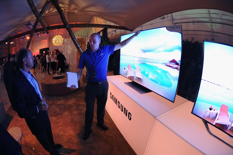 삼성스마트TV전시모습
