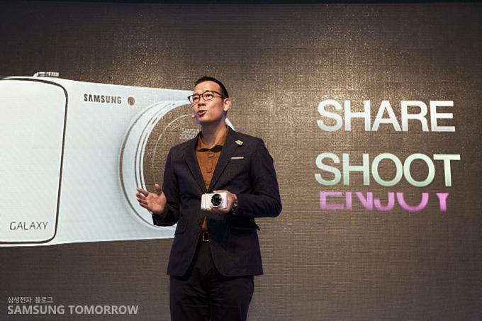 김진표가 share shoot에 대해 이야기 하고 있다