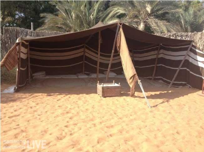 아부다비의 Heritage Village 내에 설치된 천막