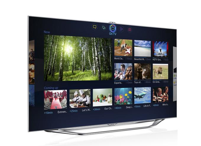 2013 '스마트허브'를 실행한 스마트TV화면