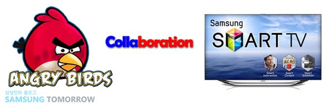 앵그리 버드 Collaboration 삼성스마트 tv