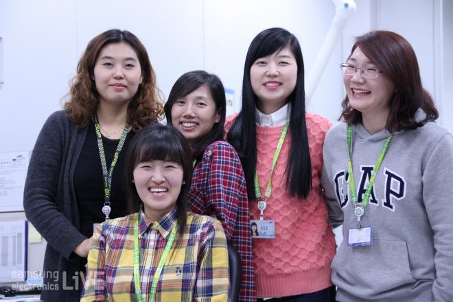 신뢰성시험그룹의 여사원들