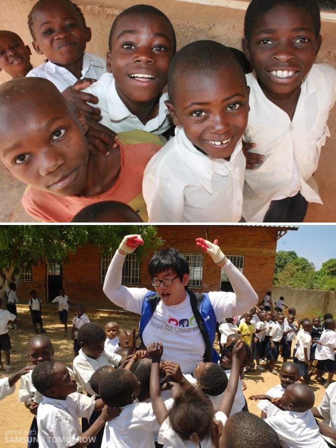 콩고아이들, 단원을 둘러싼 콩고 아이들