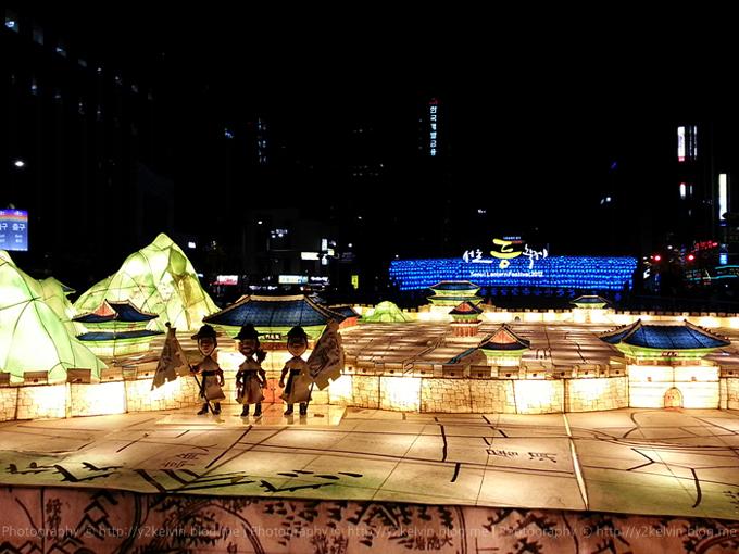 서울 청계광장 등불 축제 의 경복궁 등불