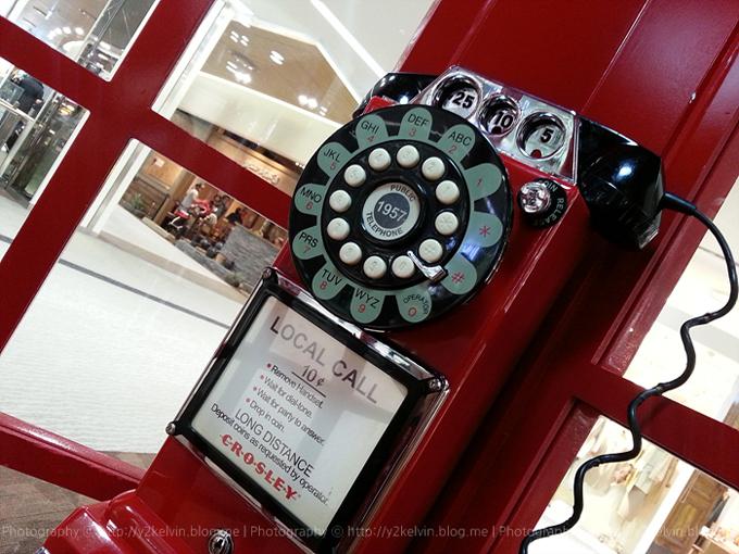 갤럭시노트2로 찍은 빨간색 공중전화