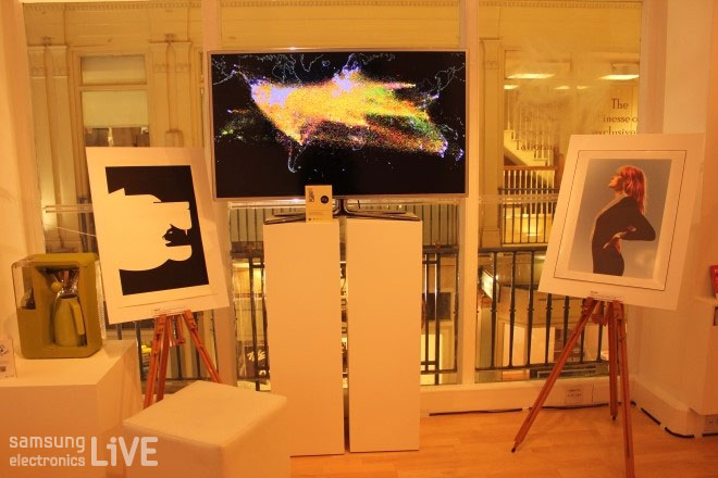 The 100 Project의 작품 소개를 함께한 삼성 Smart TV ES9000