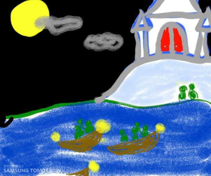 바다위의 성