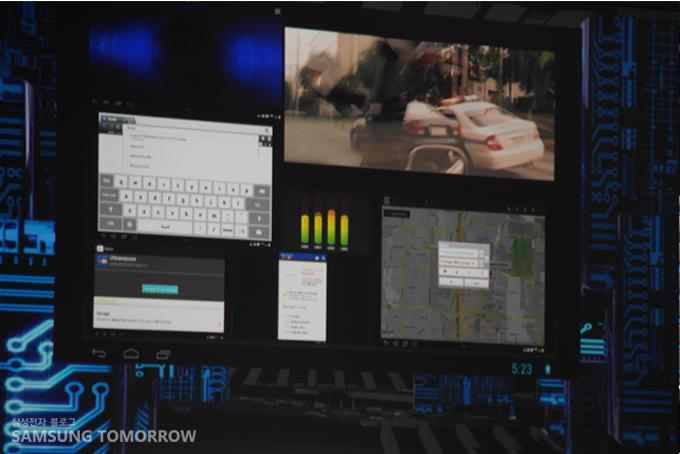 '엑시노스 5 옥타 탑재 어플리케이션을 실행하고 있다