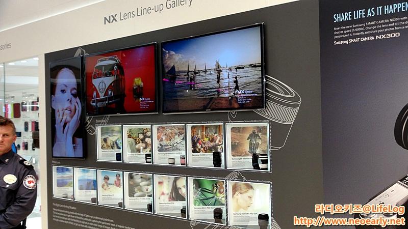 NX렌즈 라인업 갤러리 모습