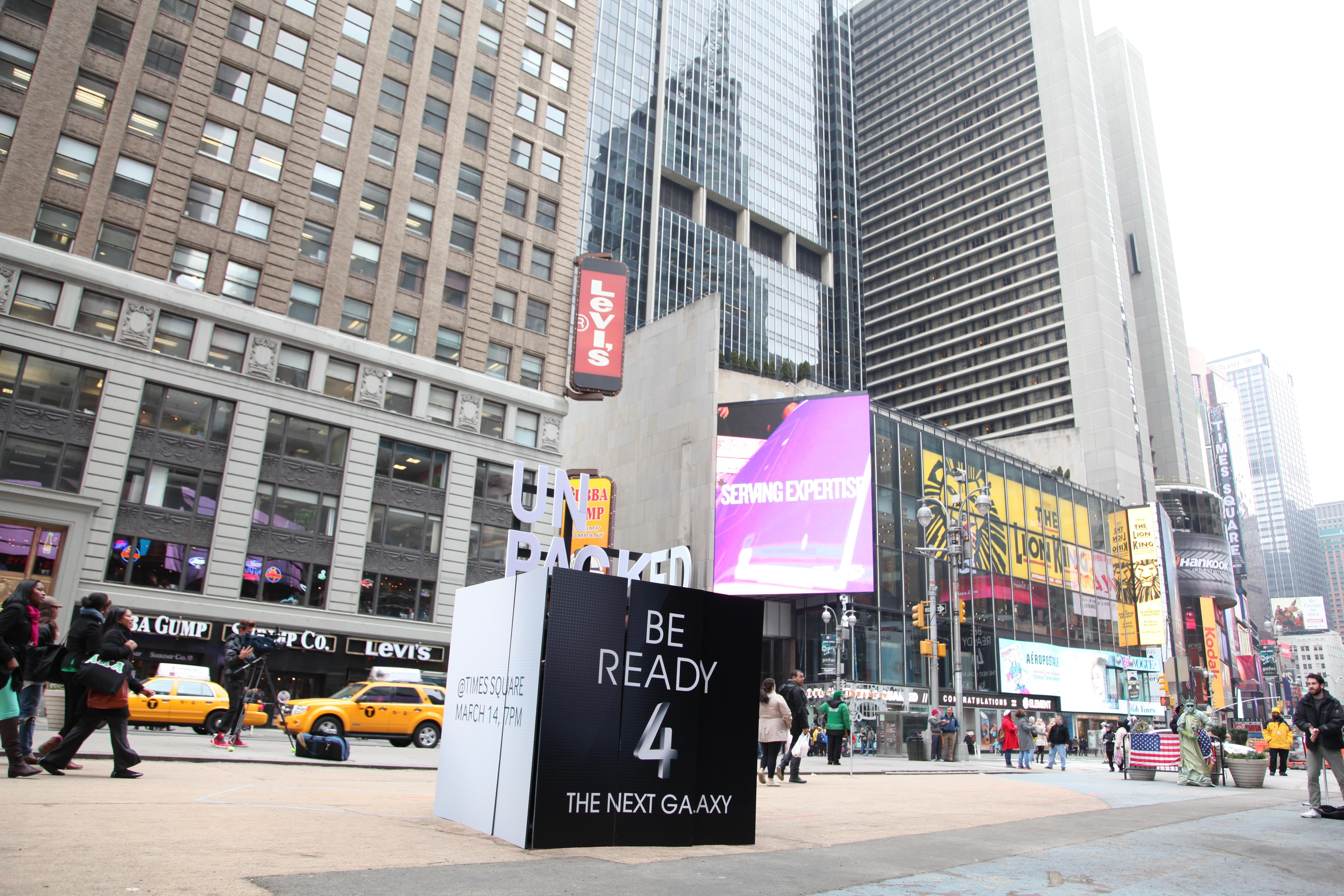 뉴욕에서 행한 'BE READY 4 THE NEXT GALAXY' 퍼포먼스현장