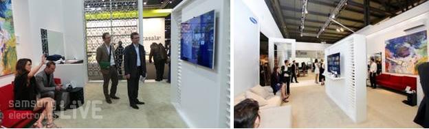 두 개의 삼성 스마트 TV가 배치된 Ecosystem 체험공간