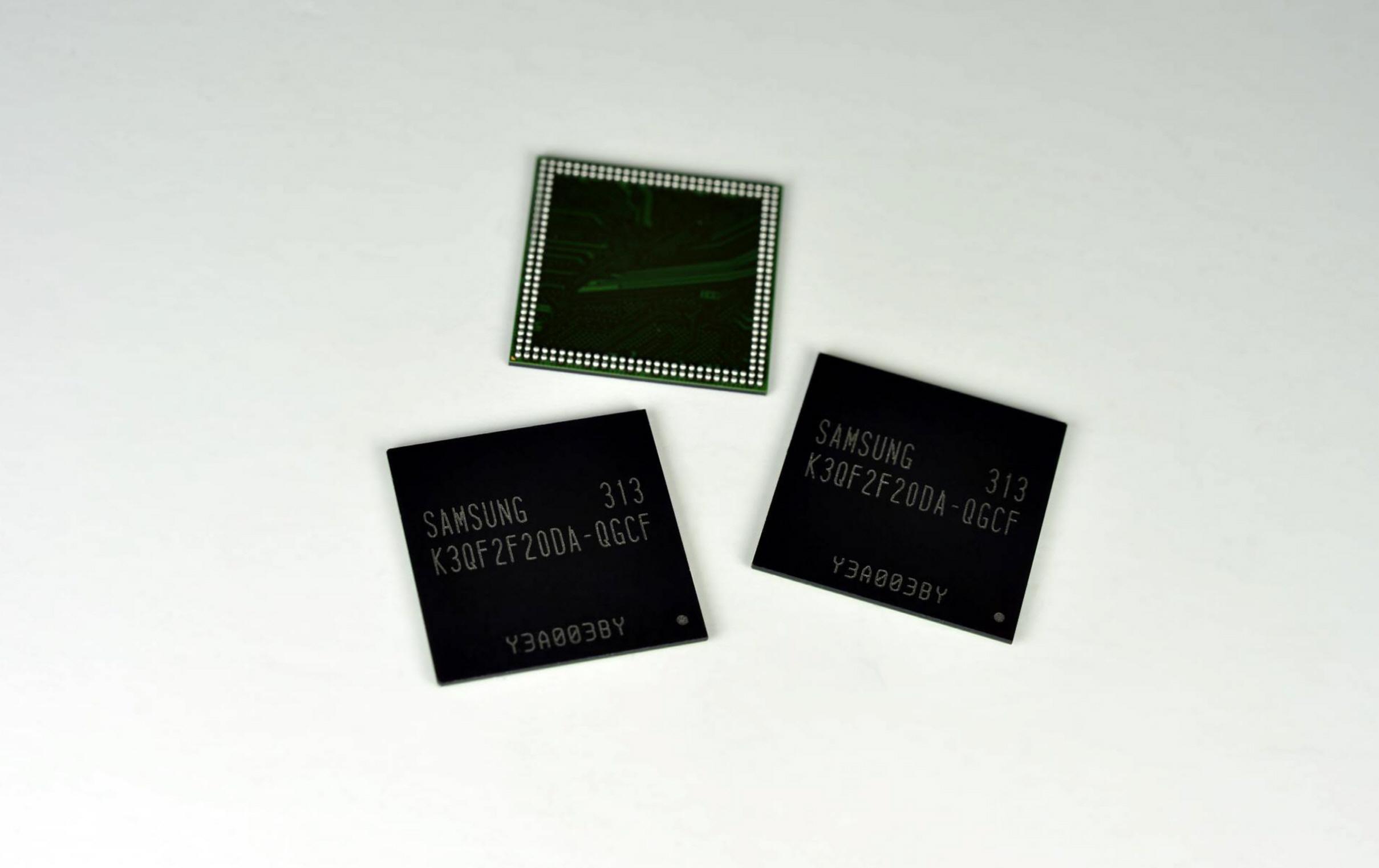 20나노급 4Gb 초고속 모바일 D램 이미지입니다.