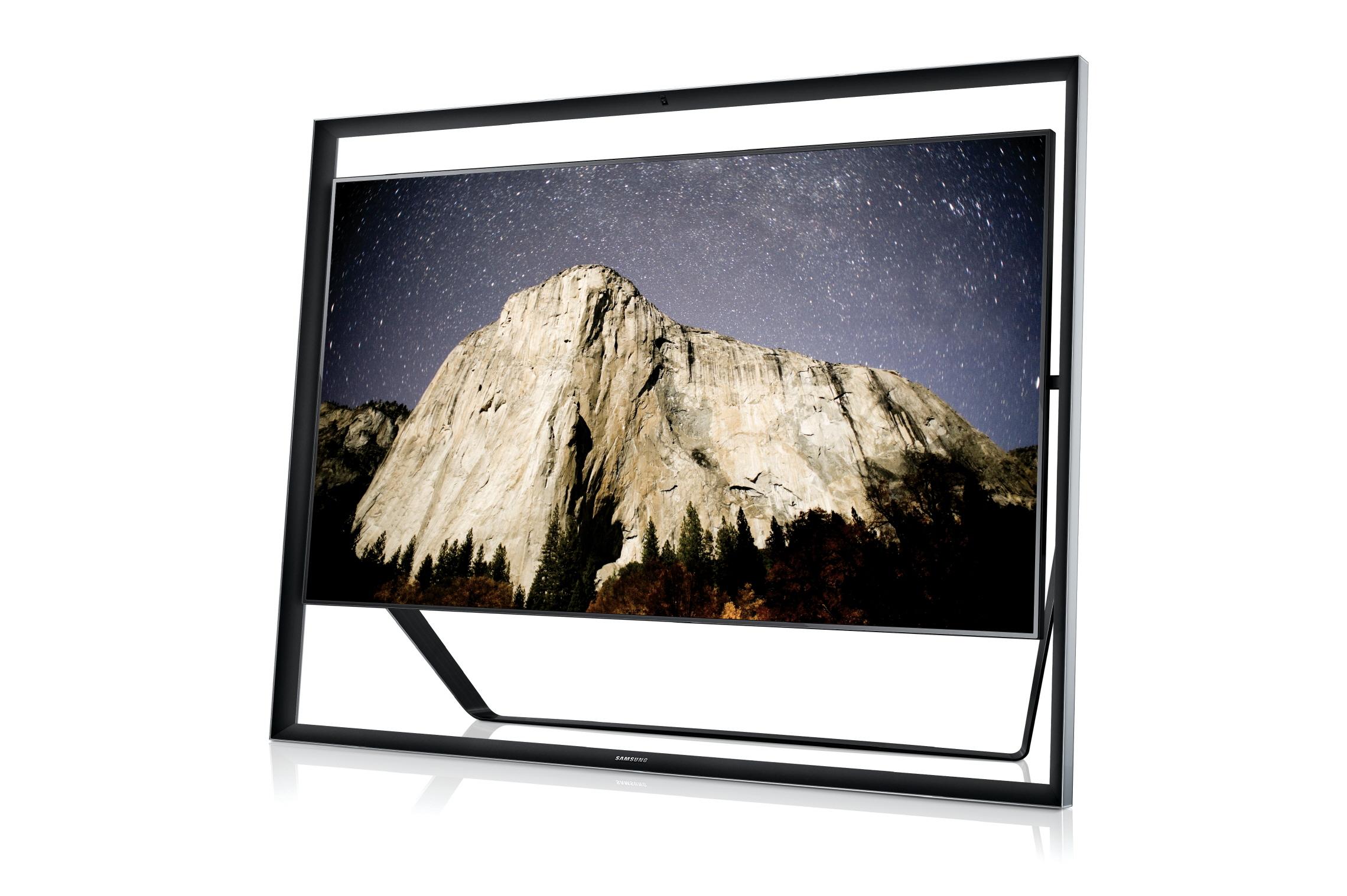 사진은 지난 1월 삼성전자가 선보인 세계 최대 85형 UHD TV인 85S9 이미지입니다.