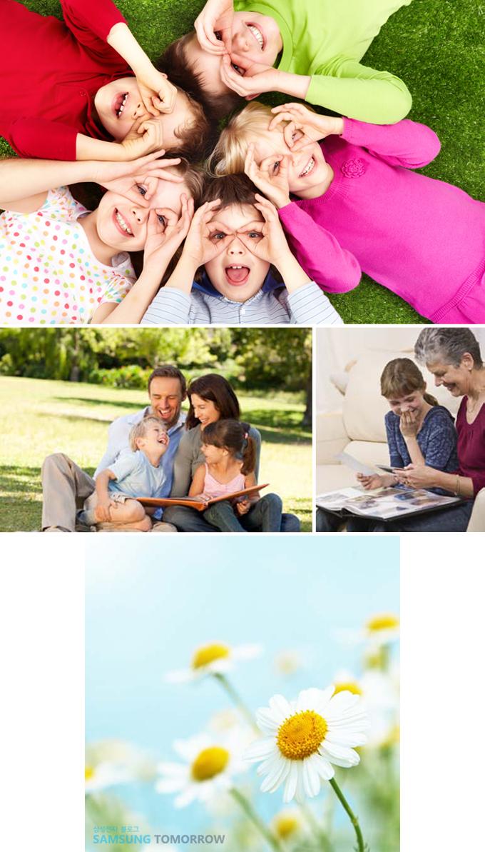 아이들, 가족, 꽃 이미지입니다.