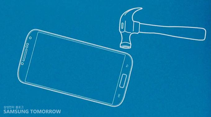갤럭시 S4 충격 테스트 로고 이미지입니다.