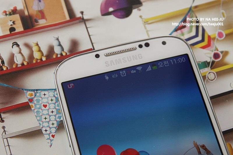 갤럭시 S4 상단 이미지입니다.