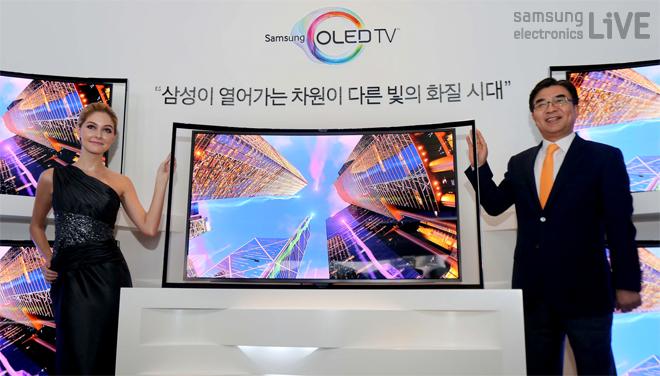 삼성 OLED TV를 선보이고 있다