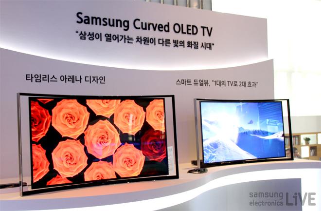 2013 삼성 하반기 TV 전략 제품 발표회에 전시된 삼성 OLED TV