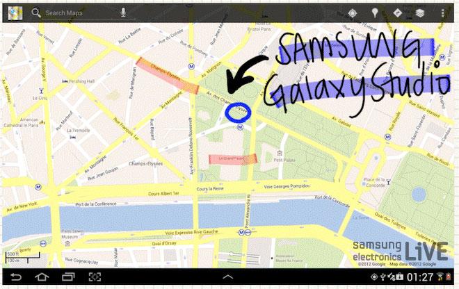 갤럭시스튜디오 위치를 표시한 지도