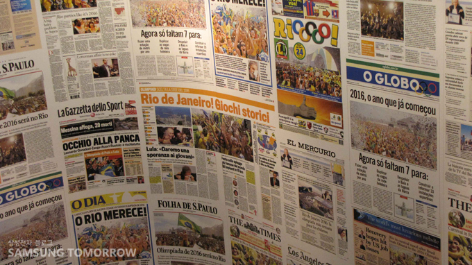 리우의 개최를 확정지은 날의 신문들