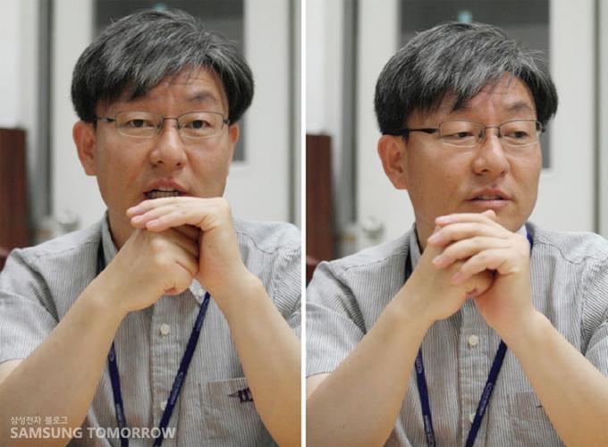 김민 수석이 인터뷰하는 모습