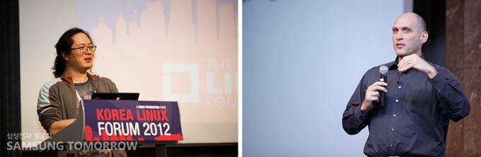 허태준과 그렉허트만이 연설하는 모습