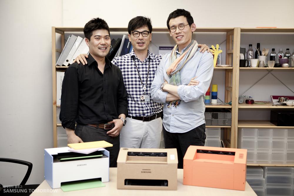 왼쪽부터 프린팅 솔루션 사업부 소광혁 사원, 정승욱 수석, 김민철 사원입니다.