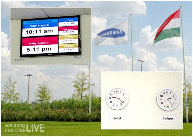 서울과 부다페스트 시계