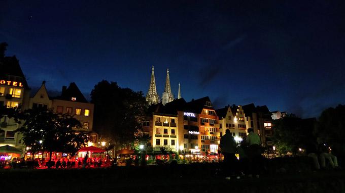 독일 쾰른의 야경