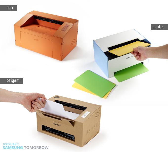 왼쪽 위는 Clip(클립) 프린터, 오른쪽 위는 Mate(메이트), 가운데 아래는 Origami(오리가미) 프린터 입니다.