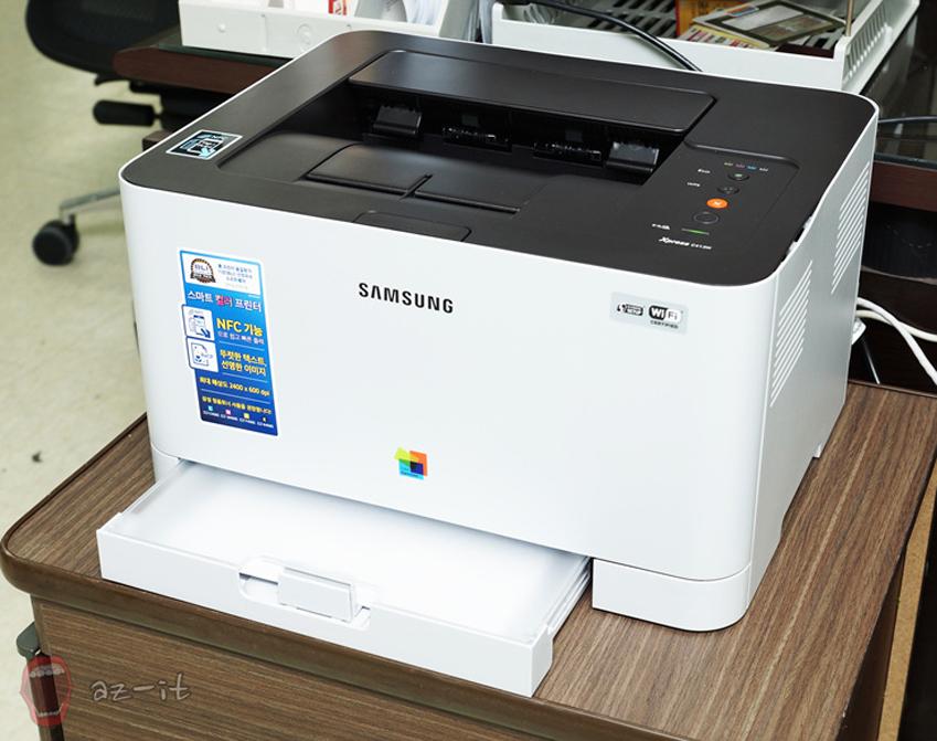 삼성 프린터 NFC C413W의 모습