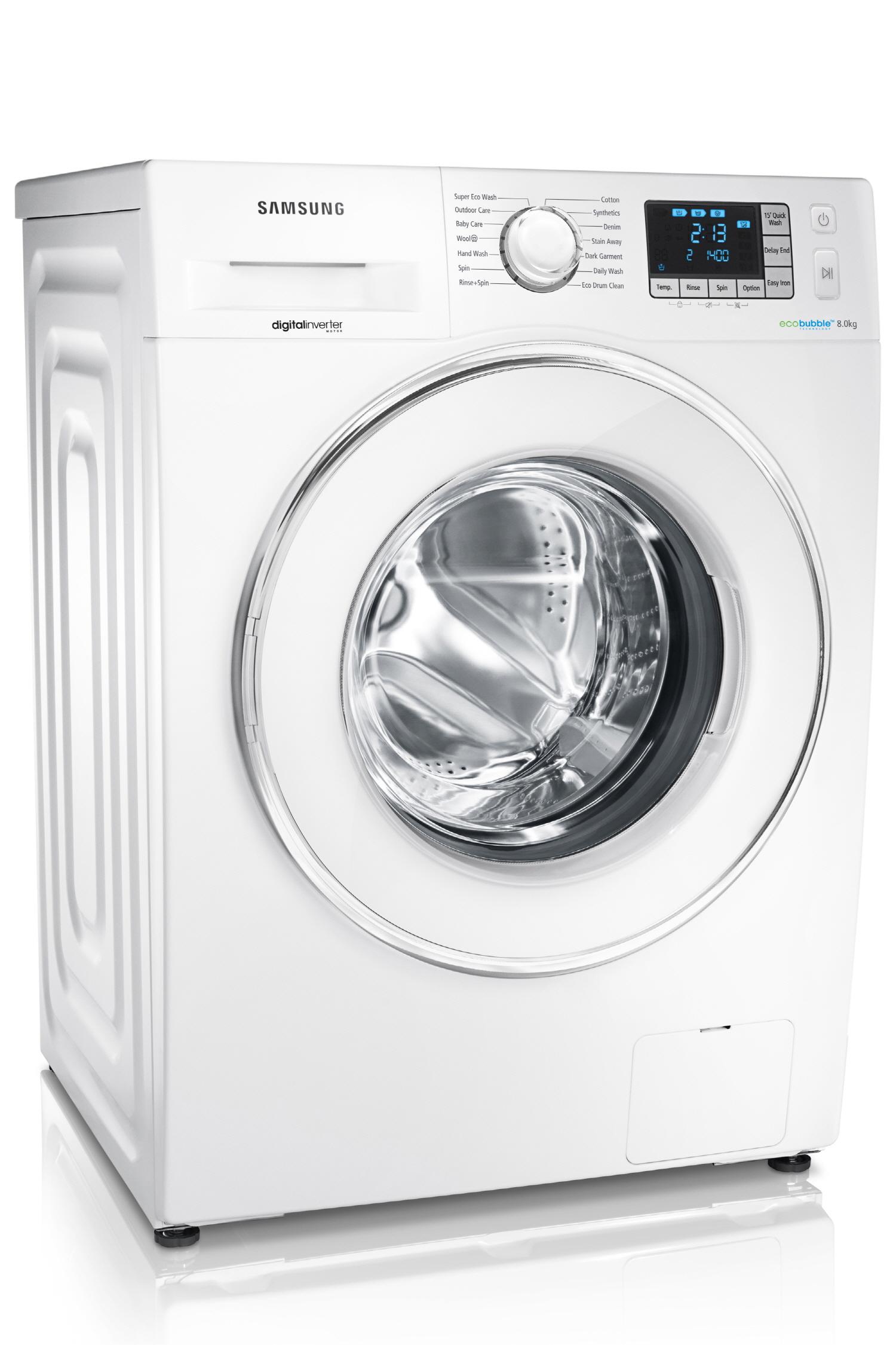 버블드럼세탁기 WF80F5E5U4W 의 모습입니다.