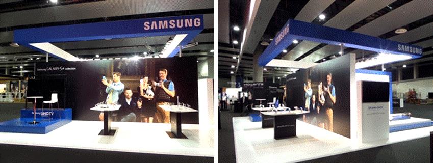 패션위크 마드리드에 있는 삼성부스입니다.