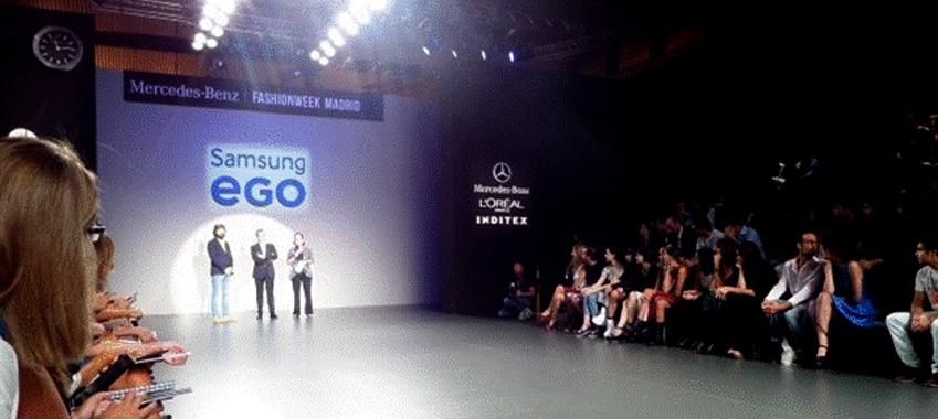패션위크 마드리드의 마지막 날 삼성 EGO프로젝트 패션쇼입니다.