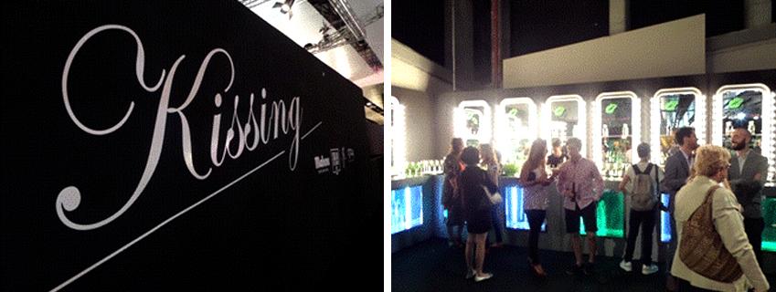 스페인의 유명인사, 패션업계에 종사하는 사람들, 관계자만 들어갈 수 있는 Kissing room 내부 이미지입니다.