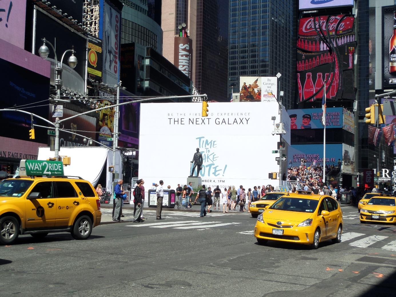 삼성 언팩 뉴욕 행사장 모습입니다.