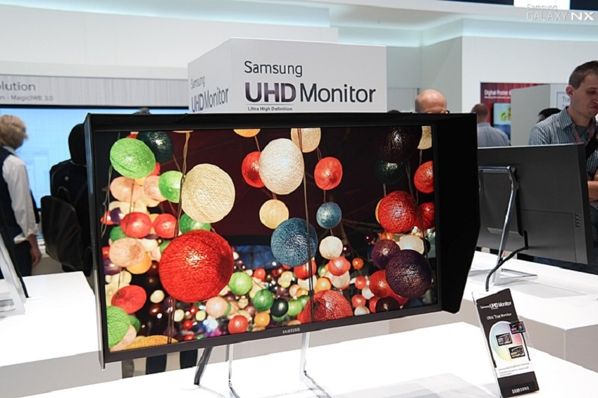 IFA2013에 전시된 삼성전자 UHD 모니터입니다.