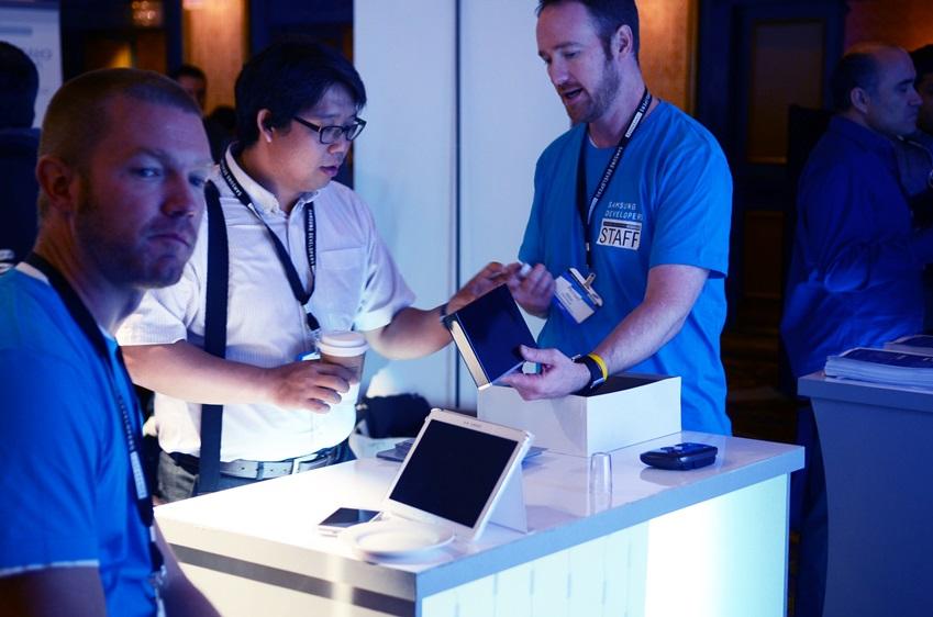 삼성 개발자 컨퍼런스 행사장 전경입니다.
