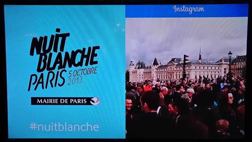 2013 nuit blanche의 현장 모습입니다.