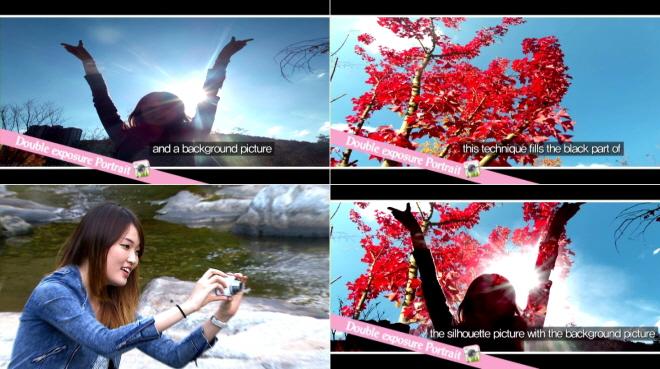 카메라 애플리케이션 이용해 두 장의 사진을 하나의 사진으로 만들 수 있습니다.
