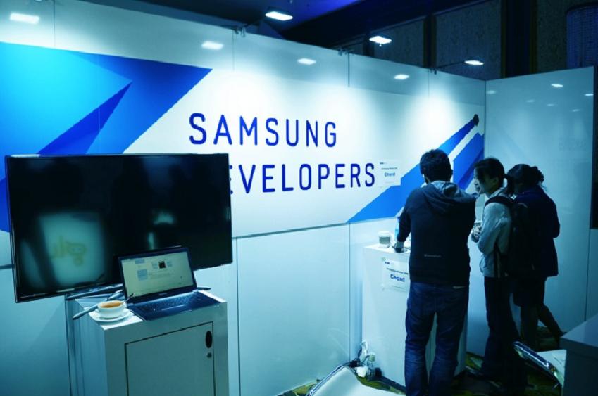 삼성 개발자 컨퍼런스 현장 모습입니다.