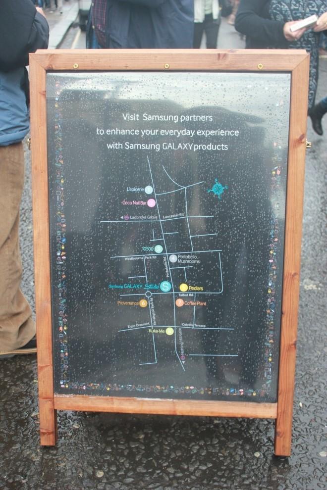 포토벨로 마켓의 갤럭시 스튜디오 인 유어 라이프 행사 지도입니다.