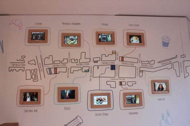 갤럭시 스튜디오의 행사장 안내 지도입니다.