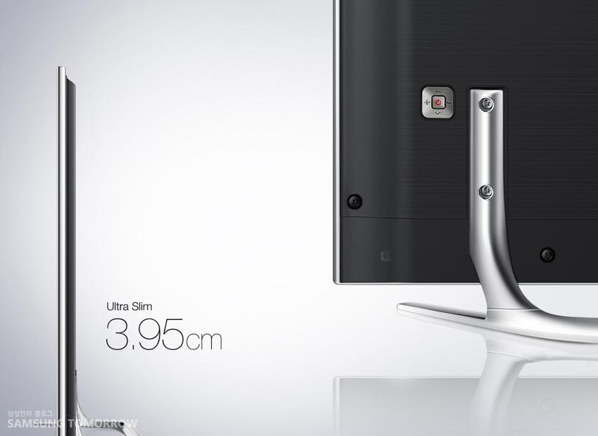 삼성 UHD TV Ultra Slim Design 모습입니다.