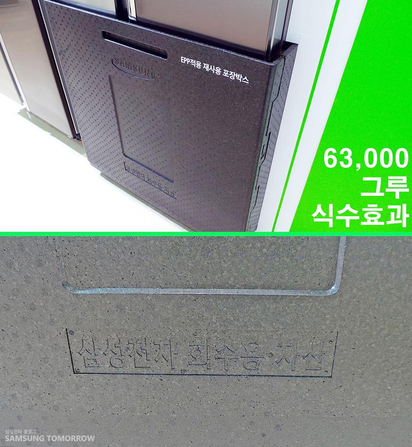 지펠 냉장고에 사용되는 회수용 포장재입니다.